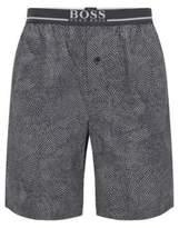 HUGO BOSS Microdot Cotton Short Short Pant EW LGrey