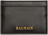 Balmain - Porte-carte en cuir noir