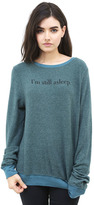Wildfox Couture 5 More Minutes Baggy Beach Jumper in Sapphire
