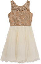 Rare Editions Gold Sequin Dress, Big Girls (7-16)