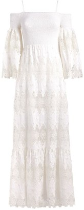 Alice + Olivia Alice+Olivia Roseline Lace-Embroidered Dress