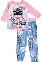 Petit Lem Kitty Pajama Top and Bottoms Set