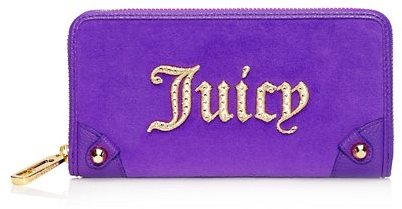 Juicy Couture Monogram Velour Zip Wallet