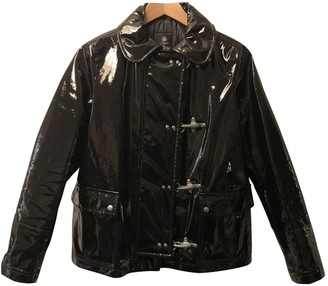 Fay Black Patent leather Trench Coat for Women