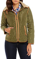Daniel Cremieux Kala Quilted Jacket with Faux-Fur Collar
