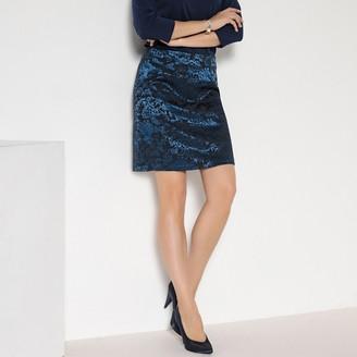 Anne Weyburn Jacquard Pencil Skirt