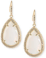 ABS by Allen Schwartz Gold-Tone Pavé & White Stone Drop Earrings