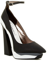 Jeffrey Campbell Power-Cut Ankle Strap Platform Pump