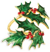 Kim Seybert Holly Leaves Napkin Ring, Set of 4