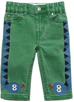Stella Mccartney Kids Snake Print Stretch Denim Jeans