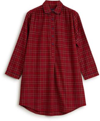 Lexington Womens Checked Flannel Nightshirt