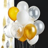 """Crate & Barrel Party 11"""" Balloons with Confetti, Set of 3"""