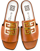 Givenchy 4G Flat Mule Sandals in Blond | FWRD