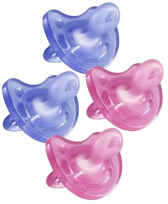Chicco Physio Soft Soother 16-36M 2 X 2Pk Girl No