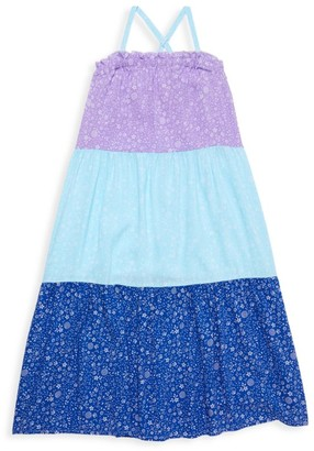 Design History Little Girl's & Girl's Colorblock Floral Maxi Dress