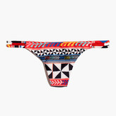 Madewell Mara Hoffman® Side-Tie Bikini Bottom in Pinwheel Poppy