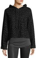 RtA Marvin Hooded Leopard-Print Sweatshirt