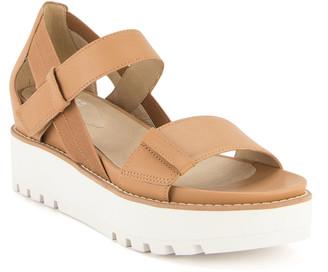 Eileen Fisher Luck Leather Platform Sandals