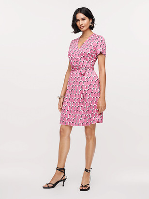 Diane von Furstenberg New Julian Two Silk-Jersey Short-Sleeve Wrap Dress