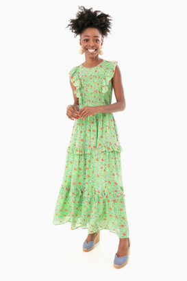 Banjanan Siesta Bud Green Iris Dress