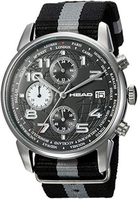 Head Unisex Adult Chronograph Quartz Watch with Textile Strap HE-005-01
