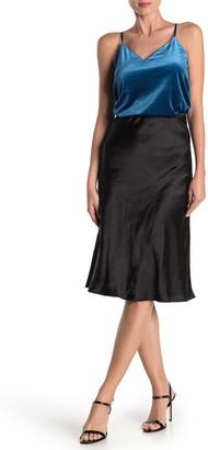 CODEXMODE Satin Midi Skirt