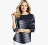 Johnston & Murphy Striped Boatneck Top