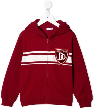 Dolce & Gabbana Kids DG Heritage knitted hoodie