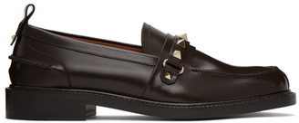 Valentino Brown Garavani Rockstud Loafers