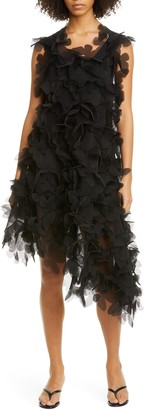 PASKAL clothes Butterfly Applique Neoprene Mesh Asymmetrical Dress