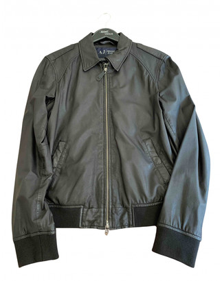Armani Jeans Black Shearling Coats