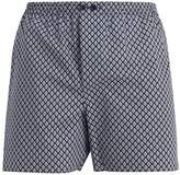 Zimmerli Diamond-print cotton boxer trunks