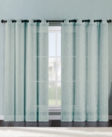 Victoria Classics Ritz Metallic Printed Faux Linen 54'' x 84'' Curtain Panel