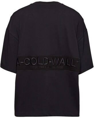 A-Cold-Wall* Logo Embroidery Cotton T-Shirt