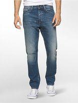 Calvin Klein Mens Tapered Leg Medium Wash Jeans