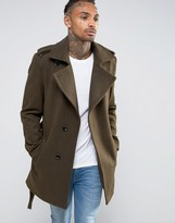 Criminal Damage Belted Trench Coat