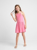 Gap Star jacquard spaghetti dress