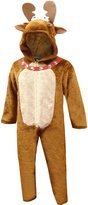 Briefly Stated Jingle Bell Moose Onesie Hooded Pajama for men