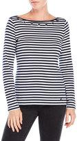 Nautica Stripe Grommet Top
