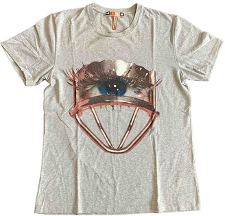 MSGM Grey Cotton Top for Women