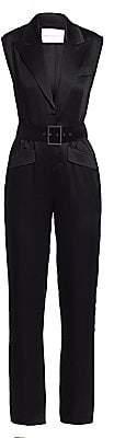 Carolina Ritzler Women's Belted Tuxedo Jumpsuit