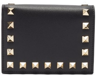 Valentino Rockstud Leather Wallet - Black