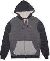 Rip Curl Men's Surf Check Colorblocked Hoodie with Faux-Fur Lining