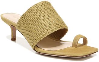 Veronica Beard Crenn Woven Suede Toe-Ring Sandals