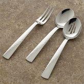 Mesa 3-Piece Serving Set: serving fork, serving spoon, pierced serving spoon.