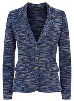 St. John Space Dye Tweed Blazer Jacket