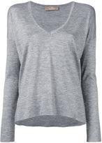 Cruciani slit sides V-neck jumper - women - Silk/Cashmere - 44