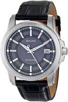 Bulova Men's Precisionist Leather strap Watch 96B158