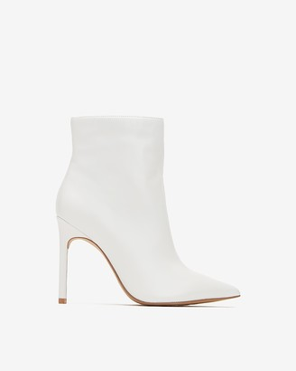 Express Genuine Leather Thin Heel Booties