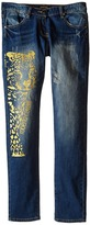 Roberto Cavalli Denim Pants w/ Leopard Design Girl's Jeans